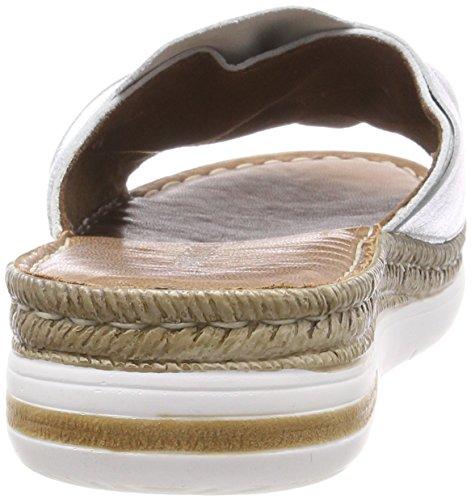 Plateado 27211 Premio Marco Tozzi Mujer Mules silver Para 5YUUOqxw