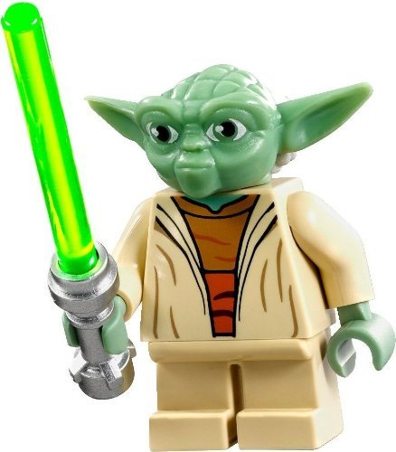 Stars Wars Yoda (LEGO Star Wars Clone Wars Minifigure - Yoda with Lightsaber)