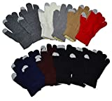 OPT Brand. Wholesale 12 Pairs Man Lady Magic Knit Gloves. Touch Screen Capability.