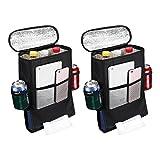 isYoung 2-pack Car Seat Back Organizer Baby Backseat Organizer Multi Purpose Travel Storage Bag for 4 Season