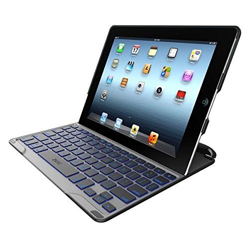 ZAGG PROfolio+ Ultrathin Case with Backlit Bluetooth Keyboard for iPad 2/3/4-Black by ZAGG