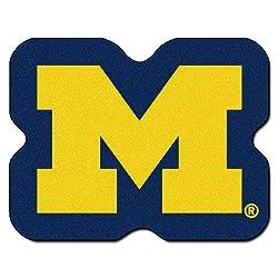 Fanmats Ncaa University Of Michigan Wolverines Nylon Face Mascot Rug
