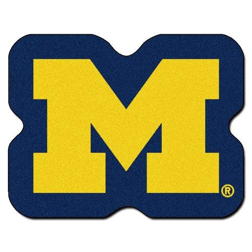 - FANMATS NCAA University of Michigan Wolverines Nylon Face Mascot Rug