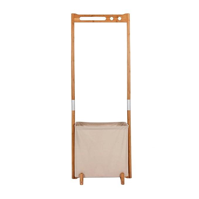 Mrtie Plegable de la Caja de Vivienda Perchero Suelo de la Carcasa de bambú Multifuncional Continental Shelf + 57 * 38 * 155cm: Amazon.es: Hogar