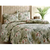 Tommy Bahama Topical Orchid Quilt Set, Full/Queen