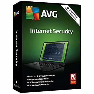 AVG Technologies Internet Security 2018, 1 Year [Key Card] (3-Users)
