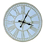 Split P Mirror Clock, Cream