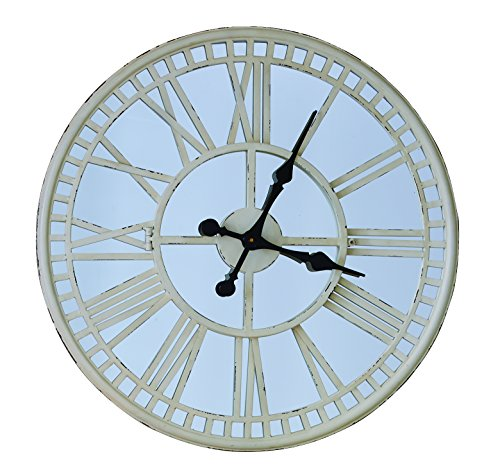 Split P Mirror Clock, Cream (Wall Mirror Cream)