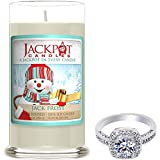 Jack Frost Candle with Ring Inside (Surprise Jewelry Valued at $15 to $5,000) Ring Size 9