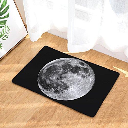 YQ Park Indoor/Outdoor/Front Door/Inlet Way Bathroom Mat Rubber Non-Slip Backing Lunar