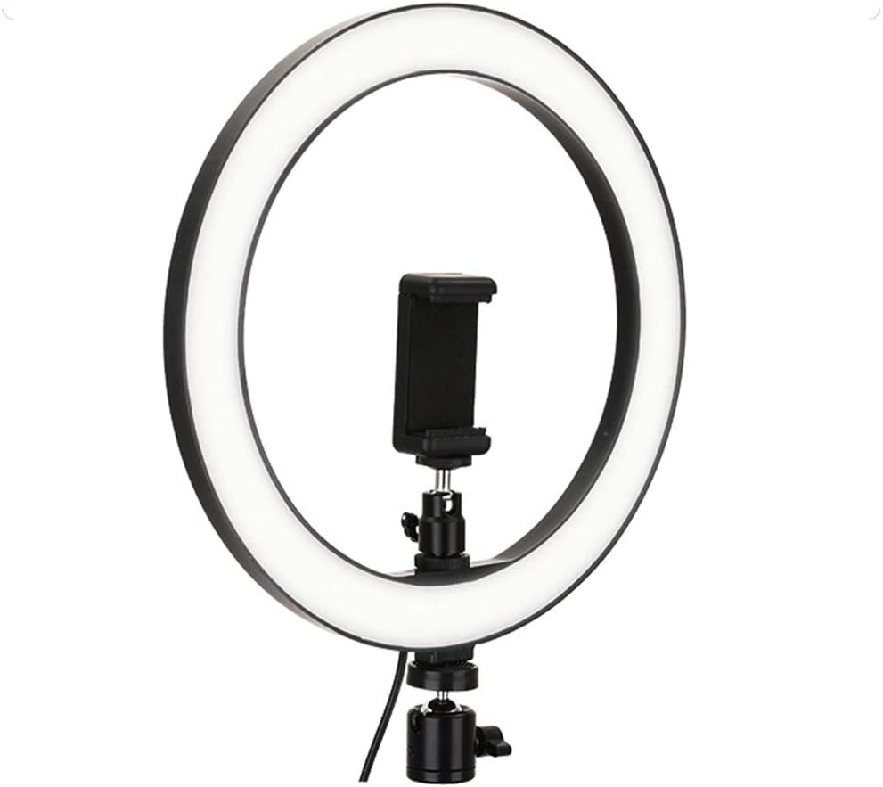 Photography Fill Light LED Camera Phone Flash Dimmable Light On-Camera Video Lights Mini Led Camera Ringlight for Video//Photography 10.2 Selfie Ring Light for Live Stream//Makeup