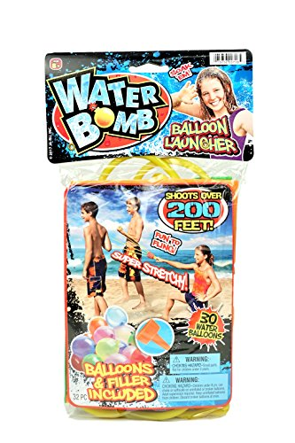 JA-RU Huge Sling Water Balloon Launcher + 30 Balloons (Pack of 6) Filler Included. Super Stretch | Item # 718-6 by JA-RU (Image #1)