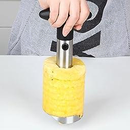 Pineapple Corer Slicer Peeler (Stainless-Steel) - 3 in 1 tool - by Utopia Kitchen