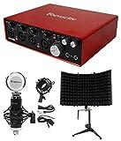 Focusrite SCARLETT 18I8 MK2 192kHz USB Audio Recording Interface + Mic + Shield