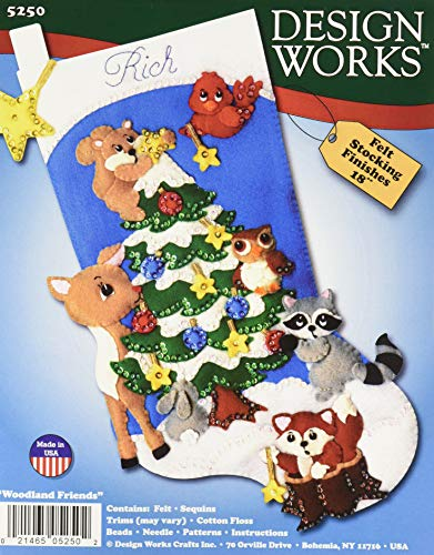 (Design Works Crafts 5250 Felt Stocking Forest Friends)
