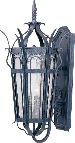 Maxim Lighting 30042CDCF 3 Light Cathedral Outdoor Sconce