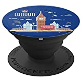 London Bridge Big Ben England UK Travel Gift Blue - PopSockets Grip and Stand for Phones and Tablets