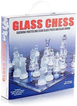 Juego de ajedrez de cristal Con 32 figuras Campo de juego de 20 x 20 cm: Amazon.es: Juguetes y juegos