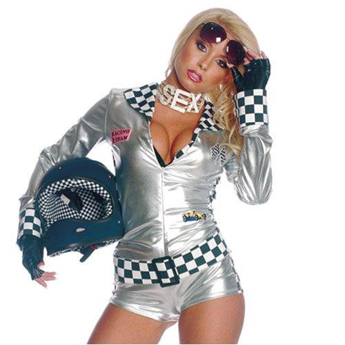 Sexy biker chick halloween costume