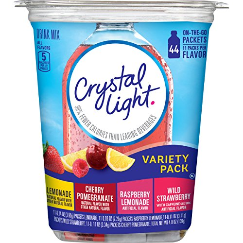 Crystal Light Drink Mix, Variety Pack, On The Go Packets, 44 Count (Crystal Lite Strawberry Lemonade)