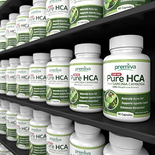 Pure 100% HCA from Garcinia Cambogia - Ultra Potency - 100% Weight Loss Extract - Appetite Suppressant - Effective Weight Loss For Women And Men - 1500mg - 100% Guarantee