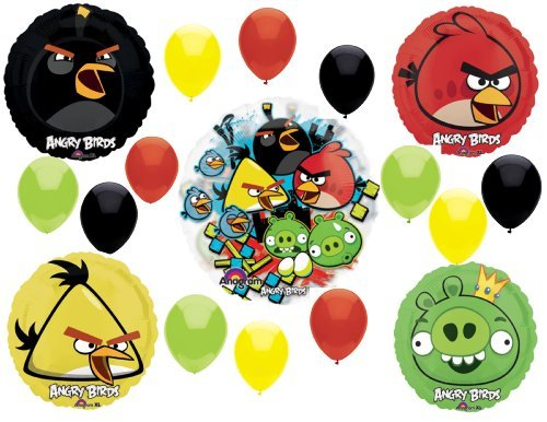 Angry Birds Balloons 17 pieces, See-Thru]()