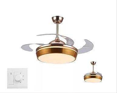 Ventiladores de techo con lámpara integrada de 106 cm ABS ...