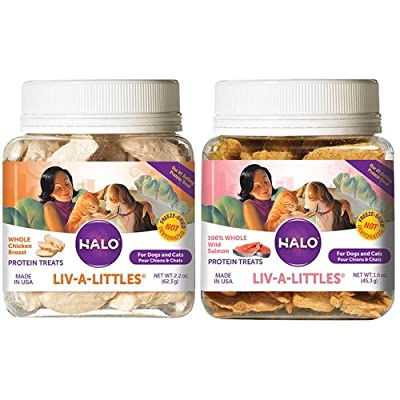 Liv-A-Littles Grain Free Natural Dog Treats & Cat Treats from Halo Purely for Pets
