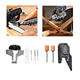 Letbo New HILDA Chain Saw Sharpening Attachment Sharpener Guide with Garden Tool Sharpener Drill Adapter