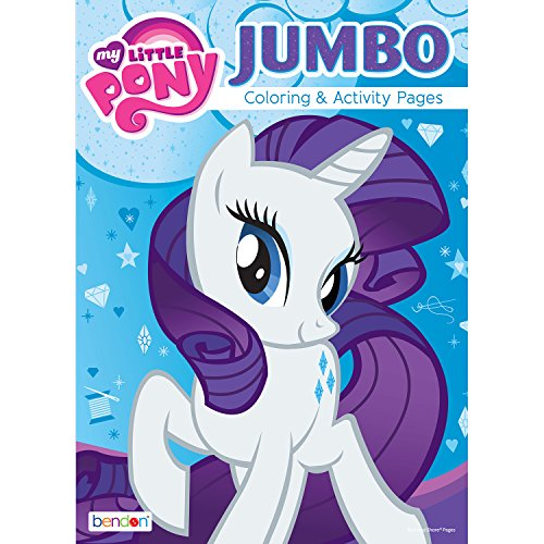 Bendon 9802 My Little Pony 64-Page Jumbo Coloring and Activity Book