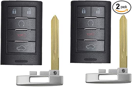 2 Car Key Fob Keyless Entry Remote Control 5B For 2014 Cadillac CTS Coupe