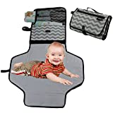 #7: Baby Diaper Changing Station by NimNik, Fashionable Portable Table Pad Change Mat for Travel Home | Perfect Shower Present for Mom of Newborn Boys Girls
