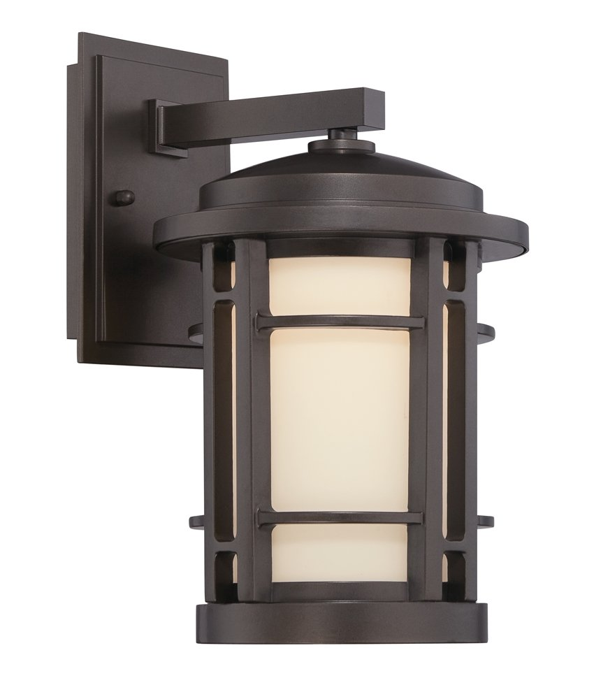 Designers Fountain LED22421-BNB Barrister 7-Inch LED Wall Lantern, Burnished Bronze