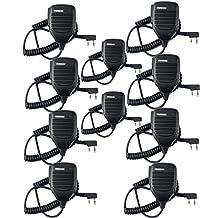 Retevis Handheld Remote Speaker Mic Headset 2 Pin for Baofeng UV-5R/UV-5RA/888S/KENWOOD Retevis H777/RT-5R/R888s 2 Way Radio (10 Pack)