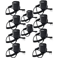 Retevis Handheld Remote Speaker Mic Headset 2 Pin for Baofeng UV-5R/UV-5RA/888S/KENWOOD Retevis H777/RT-5R/RT21 2 Way Radio (10 Pack)