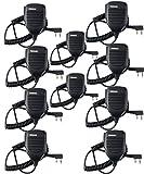 Retevis Handheld Remote Speaker Mic Headset 2 Pin for Baofeng UV-5R/UV-5RA/888S/KENWOOD Retevis H777/RT-5R/RT21 2 Way Radio (10 Pack)
