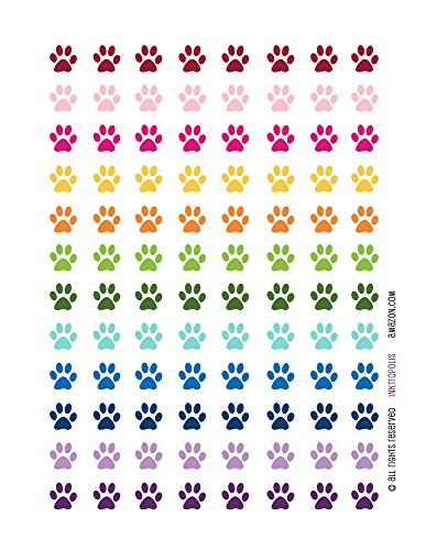 Monthly Planner Stickers Paw Print Stickers Planner Labels Erin Condren Planner Happy -