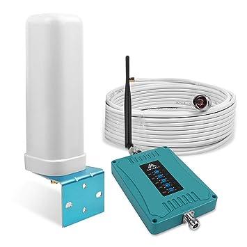 ANYCALL Amplificador Cobertura Movil 2G/3G/4G 5-Banda Repetidor Señal Movil 800/900/1800/2100/2600MHz Mejorar la Red y Llamar para ...