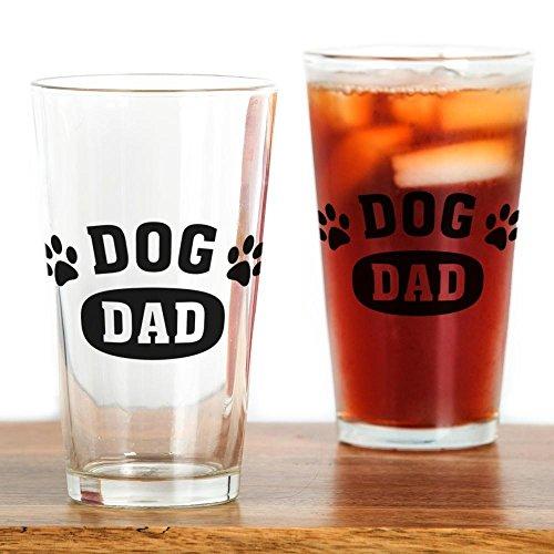 CafePress Dog Dad Pint Glass Pint Glass, 16 oz. Drinking Glass