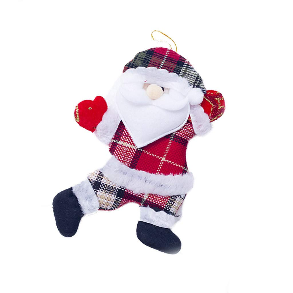 Pgojuni Christmas Angel Plush Doll Toy Christmas Tree Pendants Ornaments Decoration Home Toy Doll Hang Decorations 1PC (J)