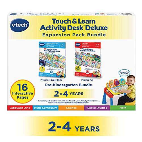 VTech Touch and Learn Activity Desk Deluxe 2-in-1 Preschool