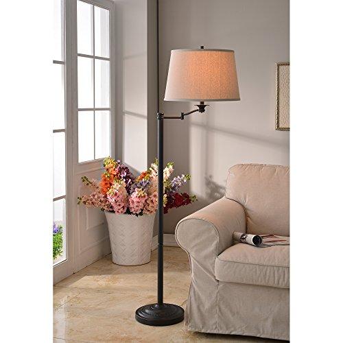 Kenroy Home 32215CBZ Riverside Swing Arm Floor Lamp, 16'' x 16'' x 58'', Copper Bronze Finish by Kenroy Home (Image #1)