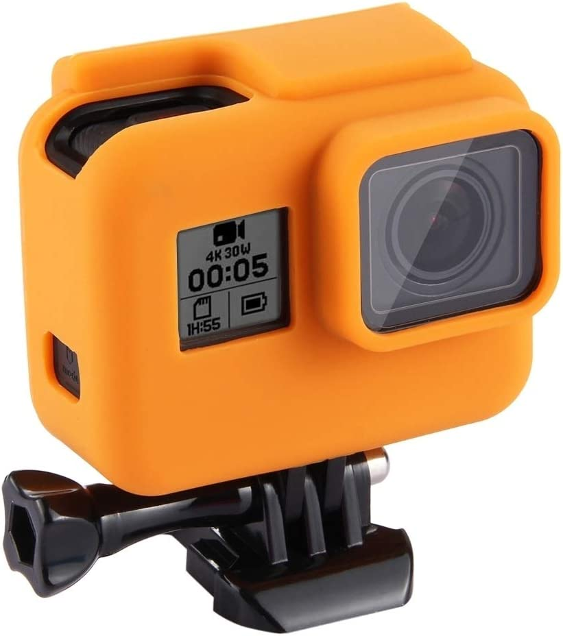 Shock-Proof Silicone Protective Case with Lens Cover for GoPro Hero 2018 //7 Black //6//5 with Frame Durable Color : Orange