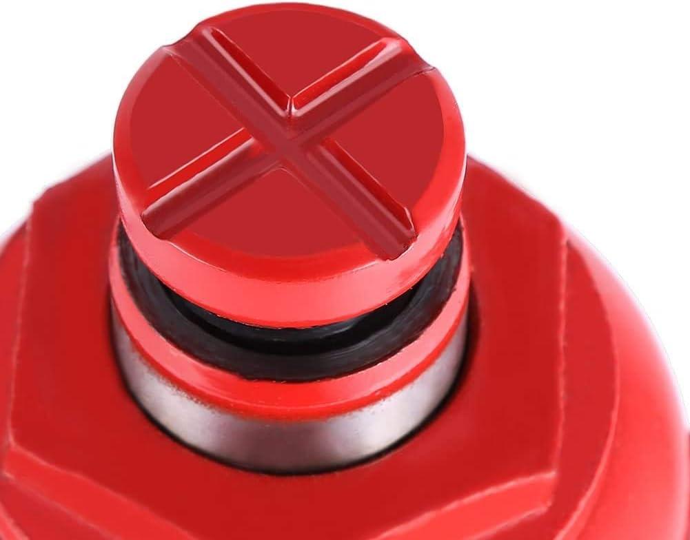 6T Robuste Voiture Cric Bouteille Hydraulique en M/étal pour Le Remplacement de Pneu de Camion de VUS Rouge Ejoyous Cric Hydraulique