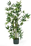 Nearly Natural 5040 Bamboo Silk Plant, 4-Feet, Green