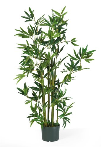 Nearly Natural 5040 Bamboo Silk Plant, 4-Feet, Green
