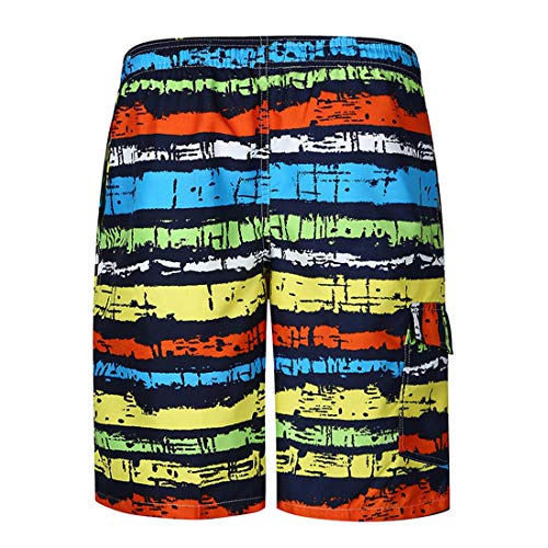 Color Color a Pantalones Apparel de destacado Playa de Franja de Color STAZSX Rayas Pantalones Sueltos Casuales de Pantalones Rayas BZ1qBA0