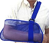 ZJDU Shoulder Injured Arm Sling, Medical Grade Mesh Arm Support Fracture Fixation Strap, Injury Recovery Arm Mesh Breathable, Unisex, Blue