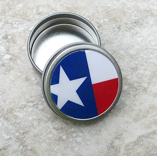 Texas Flag Decorative Tin, Screw top lid, 2oz capacity