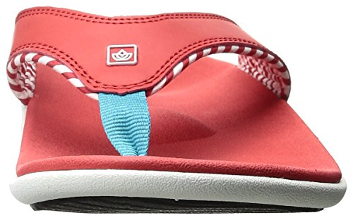 Red Women's Yumi Stripe Candy Spenco Sandal wXCOcdqxTO